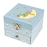 Trousselier - The Little Prince© Saint Exupery - Caja del tesoro y joyería musical - Regalo ideal para niños - Danubio azul musical - Color verde - 2 unidades
