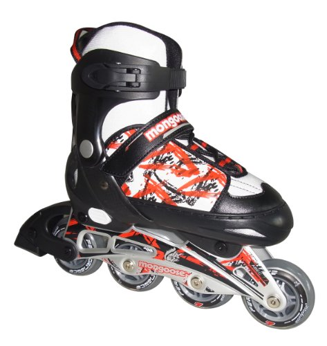 Mongoose Boy's Inline Skates, 1-4 Size/Small