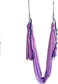wellsem Aerial Yoga Hammock 5.5 Yards Aerial Pilates Silk Yoga Swing Set Include Carabiner,Daisy Chain, Pose Guide