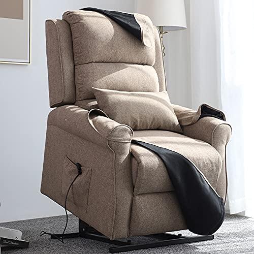 DJLOOKK Sillón reclinable eléctrico con Elevador eléctrico, sillón Auxiliar de elevación para...