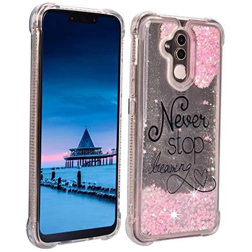 ToMoYi - Carcasa para Huawei Mate 20 Lite, con purpurina, de silicona TPU suave, con efecto mojado y arenas movedizas, con protección antigoteo, Traumfangen