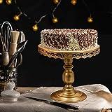 6 Stüke Tortenständer Gold Kuchenständer Metall Dessert Display 3 Etagen, Ø 30cm Cupcake für Party Hochzeit Deko Vintage-Stil Gebäckwerkzeug - 5