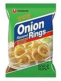 NONGSHIM Chips Onion Rings de Corée - Beignets / Rondelles saveur oignon - Marque Nongshim (Corée) - 90G (Lot de 20 sachets)