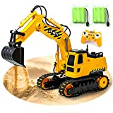 Gili RC Excavator, Remote Control Heavy Equipment Toy Car for 4, 5, 6, 7, 8 Year Old Boys Girls, Construction Tractor Vehicle, Engineering Digger Truck, Best Christmas Birthday Gifts for Kids Age 3yr
