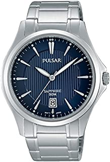 Pulsar - PS9385X1 - Montre Homme - Quartz - Analogique - Aiguilles Lumineuses - Bracelet Acier Inoxydable Argent