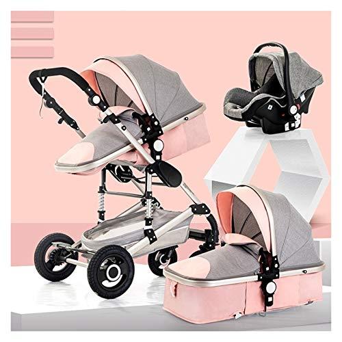 XYSQ Cochecito de bebé, Carrito de bebé, Sistema de viaje de bebé, Cochecitos de bebé 3 en 1 Sistema de viaje portátil de carro de bebé de alta vista, Cochecitos de bebé cochecito de bebé