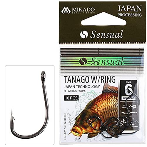 Mikado Anzuelos de Pesca Sensual Tanago W/Ring Anzuelo Surfcasting Barco Boloñesa Spinning