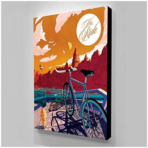 ZXYFBH Quadri Moderni Ciclismo Tableau Murale Plakaty Sciane Stampa Immagine modulare Poster Pittura su Tela per Camera da Letto Opere d'Arte 15.7x19.7in (40x50cm) x1pcs Senza Cornice