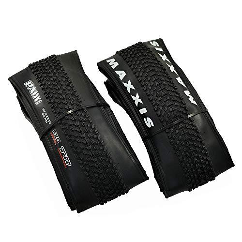 Maxxis Pace M333RU MTB Folding Tire TR EXO 27.5x2.1Inches Tire, Black, 2 Tire, MX2101