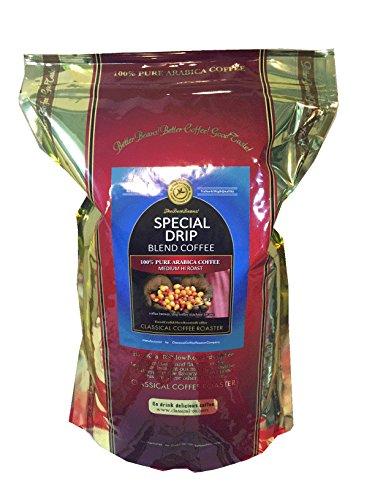 コーヒー 粉 スペシャル ドリップ ブレンド 2.2lb 1Kg 中粗挽 アラビカ コーヒー100% クラシカルコーヒーロースター