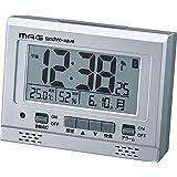 MAG(マグ) 目覚まし時計 電波 デジタル エアサーチグッドライト 環境目安 温度 湿度 カレンダー表示 シルバー T-694SM-Z