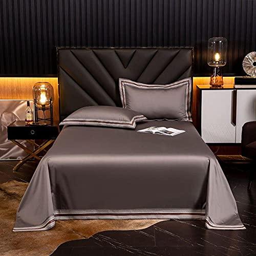GaoTianyou 120 sábanas Ajustables de algodón, Fundas de colchón, sábanas de algodón, Fundas de Cama de algodón de Fibra Larga Satinada-Coffee_270 * 245cm (1 Pieza)