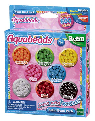 Aquabeads- 79168 Solid Bead Pack,  Multicolor (Epoch para Imaginar 79168)