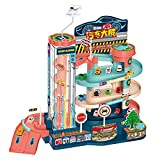 LQKYWNA Parkplatz Spielzeug mit Licht & Sound für Kinder, Parkhaus für Kinder mit Spielzeugautos...