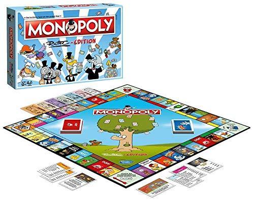 Winning Moves WIN45144 Edition-Das beliebteste Brettspiel im Cartoon-Style für die ganze Familie Monopoly: Ruthe, Mehrfarbig
