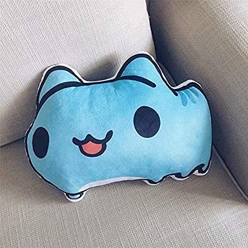 NC518 Lindo y cálido Juguete de Felpa Anime Felpa Gato Azul Lindo Juguete de Felpa decoración del hogar cojín