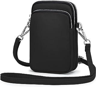 Wind Took Handy Schultertasche Kleine Damen Umhängetasche Handytasche Brieftasche Kartentasche Crossbody Bag Mini Sack, Black
