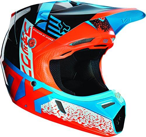 Fox Racing Divizion Youth V3 Motocross-Motorradhelm, Blau/Grün S blau / grün