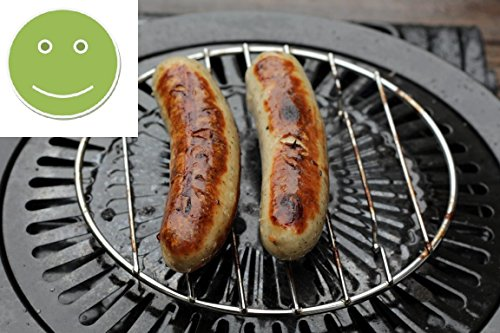 Unbekannt 2X Grillrost für Camping-Gaskocher mit Grillplatte: Zubehör für Mini-Gasgrill/Kartuschen - Grill