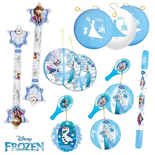 Frozen Kit de fiesta de cumpleaños con 11 juguetes hinchables para los niños