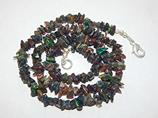 5 Strand Natural Gem Ethiopian Black Opal Uncut Beads Necklace 17 Inch Full Strand New Year & Christmas Sale By LOVE-KUSH.