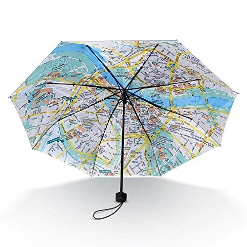 Taschen-Regenschirm Dresden Rainmap mit Stadtplan