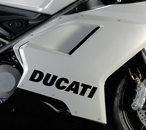 2x Ducati Logo Typ 2 Aufkleber für Auto,Scheibe, Lack,Wand,Wandtattoo aus Hochleistungsfolie für alle glatten Flächen von myrockshirt® Autoaufkleber Tuning Decal Sticker