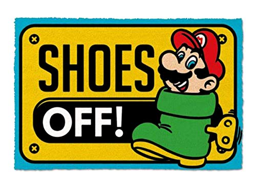 Super Mario Felpudo Shoes Off Colour