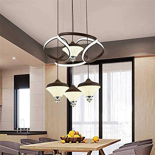Candelabro de interior Candelabro LED moderno, simple 3 luces de cocina Isla colgante de luz Barra de luz de 3 tonos Dormitorio Sala de estar Cafe Lámpara colgante Colgante de techo, C