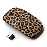 KawaiiMouse [ Optical 2.4G Wireless Mouse ] Leopard Fur Animal Big Cat Pattern Africa