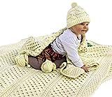 100% Irish Merino Wool Aran Baby Blanketby Carraig Donn