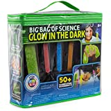 Be Amazing! Toys Big Bag of Science Lab – Glow in The Dark Science Kit for Kids – DIY Slime Kit & 50+ Illuminating Experiments - STEM Science Chemistry Experiment Set – Birthday for Boys Girls 8+