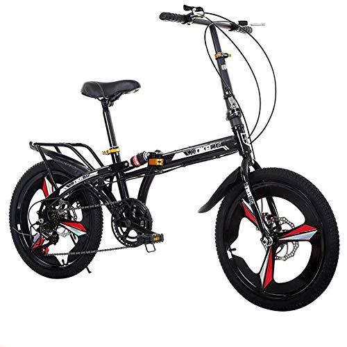 City Bike Unisex Erwachsene Faltbare Mini-Fahrräder Leichtgewicht für Männer Frauen Damen Teens Klassischer Pendler mit verstellbarem Lenker und Sitz, Aluminiumlegierungsrahmen, 7-Gang - 20-Zoll-Räde