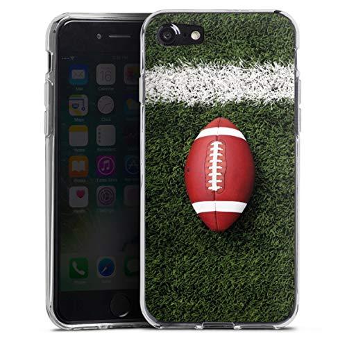 DeinDesign Silikon Hülle kompatibel mit Apple iPhone SE (2020) Case transparent Handyhülle Fußballer Sport American Football