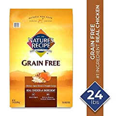 Contains 1 - 24 Pound Bag of Dry Dog Food Real chicken is the #1 ingredient Natural dog food, with added vitamins, minerals and nutrients Grain free recipe – contains nutrient dense carbohydrate sources like sweet potato and pumpkin. No added corn, w...