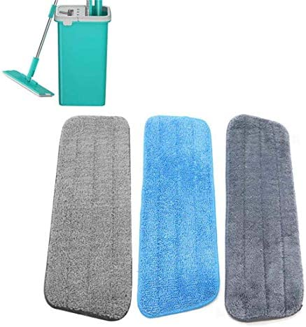 Mop Pad Reusable Dust Microfiber Floor Mop Pad Washable Mop Cloth Thick Mop Head Replacement product image