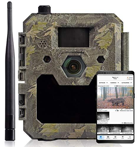 icuserver Wildtierkamera icucam 4G / LTE - 4000 Bilder zu jeder neuen 4G-Kamera - Wildkamera mit Bewegungsmelder Nachtsicht Handyübertragung - Full-HD Video 40m Reichweite