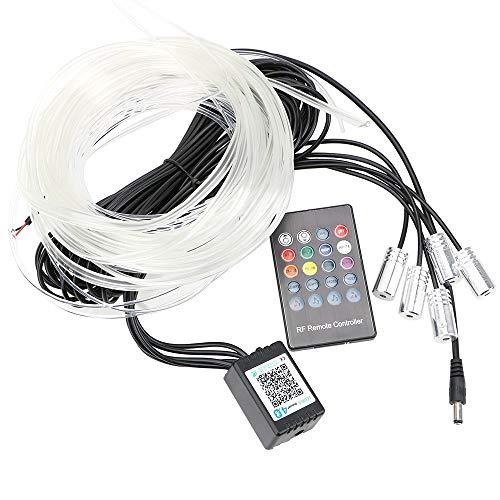 NOPNOG Auto-Atmosphärenlampe, Auto-Innenbeleuchtung, RGB-Lichtleiste, Flexibles EL-Kabel, mit Fernbedienung (APP-Kontrolle)