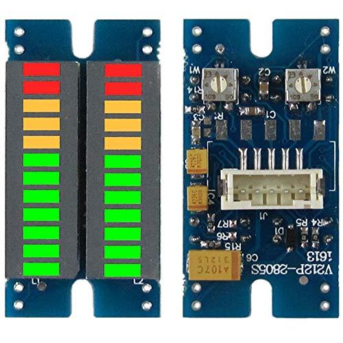 Kaxofang Indicador de Espectro de Audio de MúSica LED de Segmento 2X12 Indicador de Nivel Dual EstéReo Indicador de Nivel de Volumen del Medidor de VU PH2.0