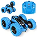 Remote Control car,2.4GHz Electric Race Stunt Car,Double Sided 360? Rolling Rotating Rotation, LED Headlights RC 4WD High Speed Off Road for 3 4 5 6 7 8-12 Year Old Boy Toys