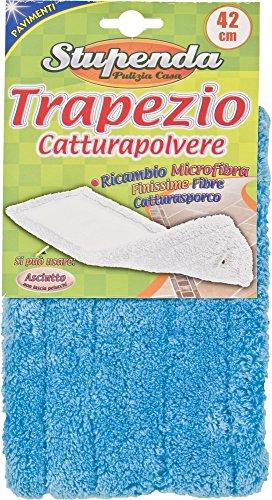 Briancasa Trapezio Catturapolvere Ricambio in Microfibra 42 cm, Azzurro