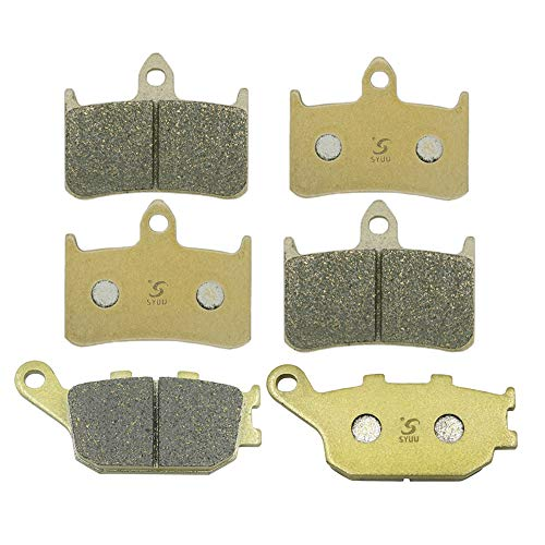 SYUU Motorcycle Replacemen Front Rear Brake Pads Brakes for Honda CBR 900 RR Fireblade 1992-1997 CB 900 F Hornet 2002-2007 CB 1000 93-97 FA187F FA174R