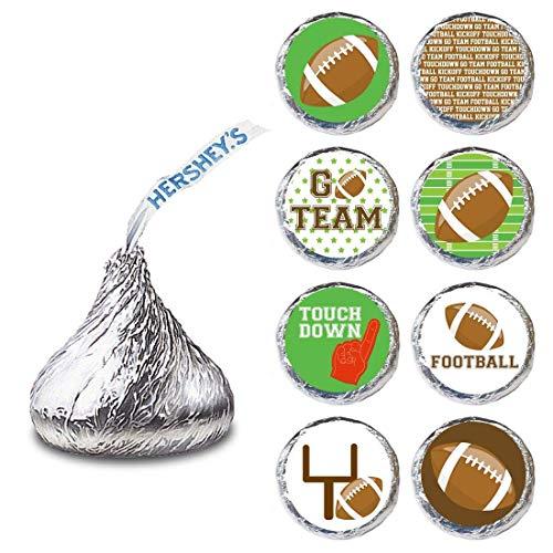 Fußball spieletikett für HERSHEY\'S KISSES® Pralinen - Süßigkeiten aufkleber für Sportpartys - satz von 240