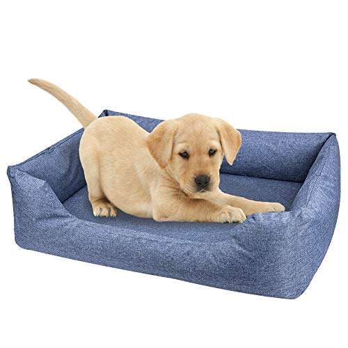 ThinkPet Natural Orthopedic Memory-Foam Dog Bed,Water Resistant Indoor-Outdoor Durable Chew Resistant,2 Lounge Sofa Removable Washable Covers, 95% Coco-Latex 3' Mattress