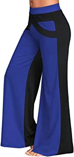 SGMORE ❤ Boot-Cut Yoga Pants Tummy Control Patchwork Bell Bottoms Flare Trousers Mid Waisted Wide Leg Yoga Pants