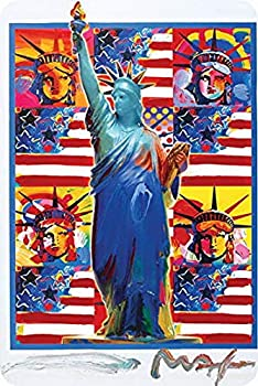 Uptell Metal Sign New York Peter Max Decor Patriotic Art