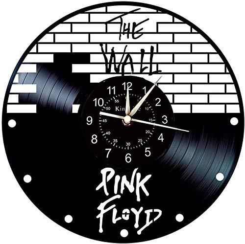 Cylficl. Vinyle Horloge Murale Enregistrement, décoration Murale thème Pink Floyd Grande Horloge, Cadeau Horloge Murale créative Main idéale
