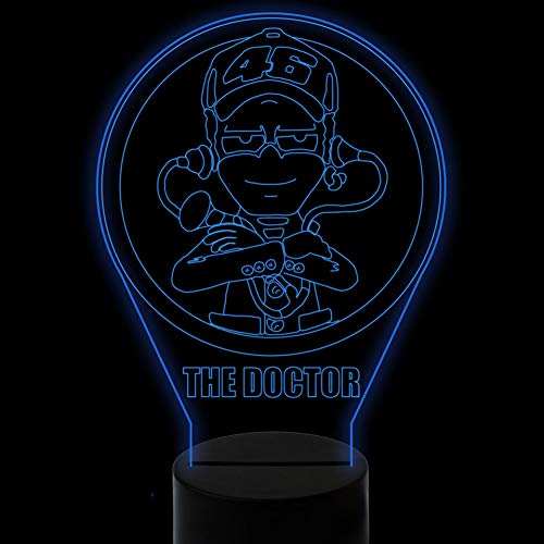 LZGPZXYD 3D LED Doctor Modeling Desk Lamp USB Visual Luminary Kids Touch Button Bel Night Light Baby Sleep Lighting Decor Touch