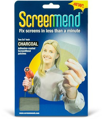 """WindowScreen Repair Kit - 5""""x7"""" Patch Charcoal (2 Patches)"""