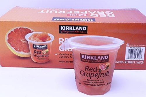 ★【KIRKLAND】カークランド レッドグレープフルーツカップ 115g×12個(要冷蔵)★